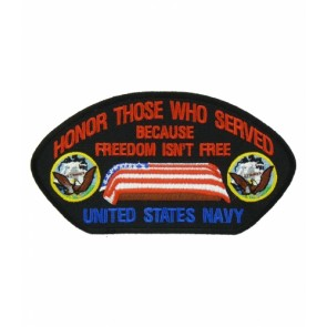 Honor Those U.S. Navy Hat Patch, Military Cap Patches