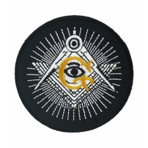 Freemasons Black, White & Gold Masonic Logo Patches