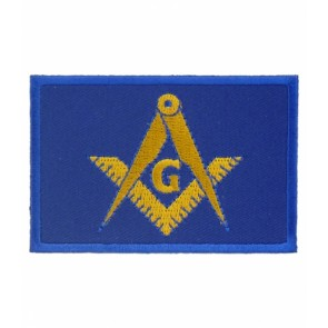 Freemasons Masonic Blue Flag Patch, Masonic Patches