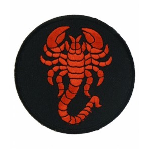 Red Scorpion Round Patch, Scorpion Patches