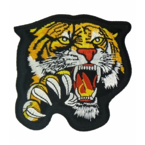 Clawing Yellow Tiger Patch, Tiger & Animal Patches
