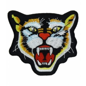 Growling Colorful Wildcat Patch, Animal Patches