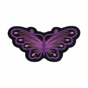 Purple & Pink Butterfly Patch, Butterfly Patches