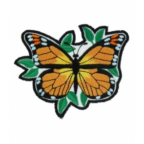 Monarch Butterfly & Leaves Patch, Butterfly Patches