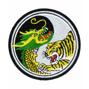 Dragon & Tiger Yin Yang Patch, Dragon Patches