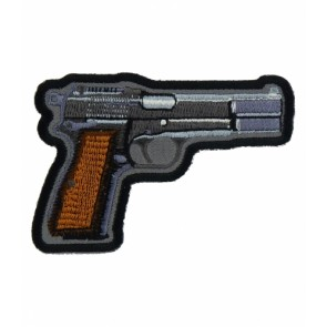 Handgun Grey & Brown Patch, Guns & Weaponry Patches