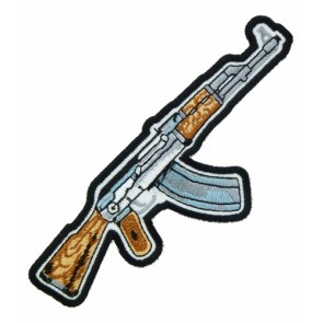 Assault Rifle Brown & Grey Patch, Gun Patches