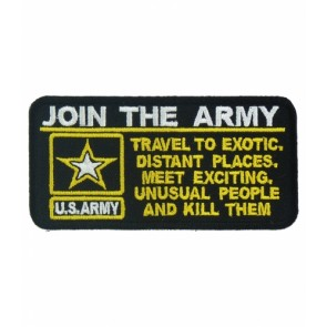 Join The Army Logo Patch, Military Sayings Patches