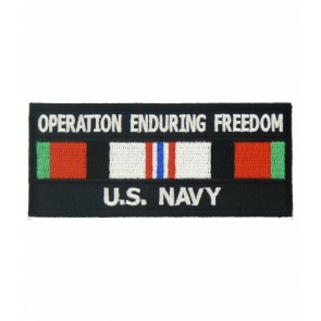 Enduring Freedom U.S. Navy Service Ribbon Patches
