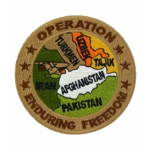 Enduring Freedom Afghanistan Map Patch, OEF Patches