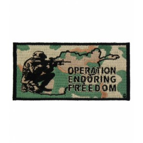 Enduring Freedom Soldier Patch, OEF Military Patches