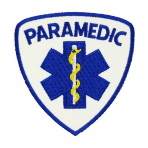 Paramedic Star of Life Badge Patch, Medical Patches