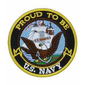 Proud To Be U.S. Navy Patch, Military Patches