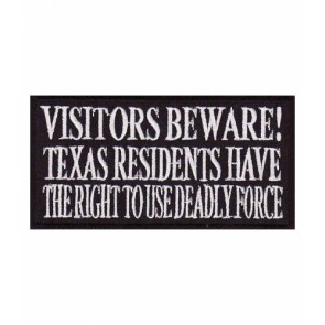 Visitors Beware Texas Residents Patch, Sayings Patches