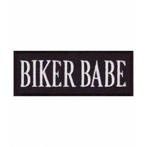 Biker Babe Black & White Patch, Ladies Biker Patches