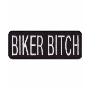 Biker Bitch Black & White Patch, Ladies Biker Patches