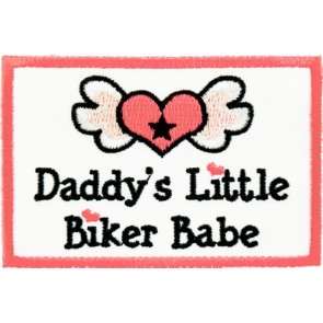 Daddy's Little Biker Babe Patch, Kids Patches