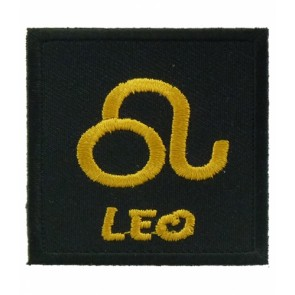 Zodiac Sign Leo Black & Gold Patch, Zodiac Patches