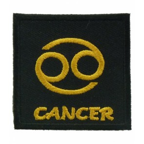 Zodiac Sign Cancer Black & Gold Patch, Zodiac Patches