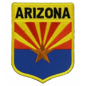 Arizona State Flag Shield Patch, 50 State Flag Patches