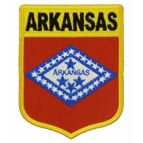 Arkansas State Flag Shield Patch, 50 State Flag Patches