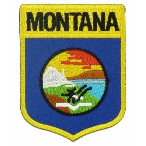 Montana State Flag Shield Patch, 50 State Flag Patches