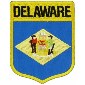 Delaware State Flag Shield Patch, 50 State Flag Patches
