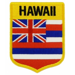 Hawaii State Flag Shield Patch, 50 State Flag Patches