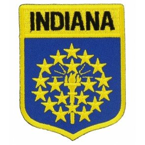 Indiana State Flag Shield Patch, 50 State Flag Patches