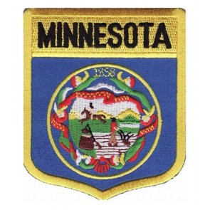 Minnesota State Flag Shield Patch, 50 State Flag Patches