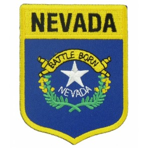 Nevada State Flag Shield Patch, 50 State Flag Patches