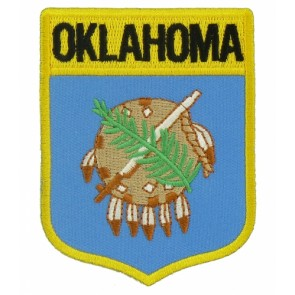 Oklahoma State Flag Shield Patch, 50 State Flag Patches