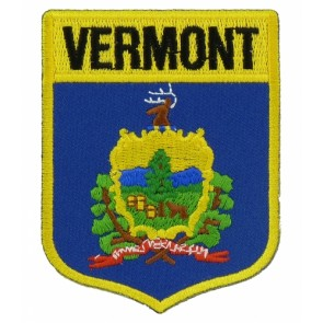 Vermont State Flag Shield Patch, 50 State Flag Patches