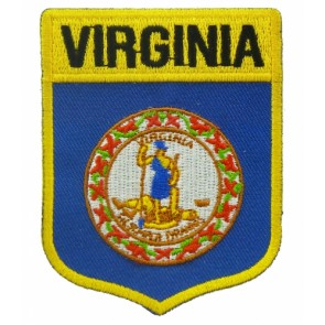 Virginia State Flag Shield Patch, 50 State Flag Patches