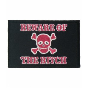 Beware of The Bitch Skull Patch, Ladies Skull Patches