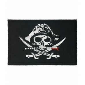 Pirate Deadman Swords Flag Patch, Pirate Patches