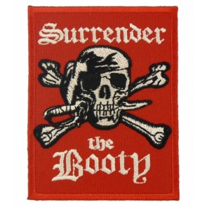Surrender The Booty Pirate Patch, Pirate Skull Patches