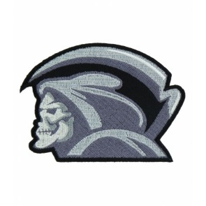 Grim Reaper Side Profile Patch, Reaper Skull Patches