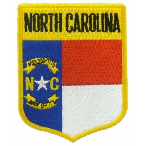North Carolina State Flag Shield Patch, 50 State Flag Patches