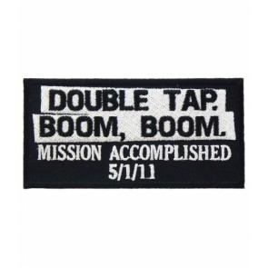 Double Tap Boom Boom Patch, Bin Laden Patches