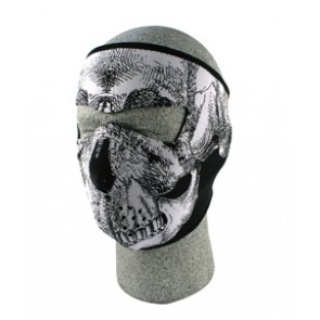Black & White Skull Full Face Mask