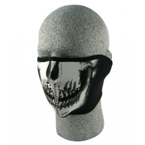 Black & White Skull Half Face Mask