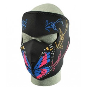 Butterfly & Swirls, Ladies Full Face Mask