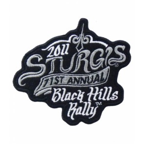 2011 Sturgis 71st Black Hills Rally Grey & White Smoke Patch