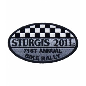 2011 Sturgis 71st Annual Bike Rally Checker Flag Patch