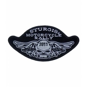 2011 Sturgis Motorcyle Rally Winged Skull Event Patch