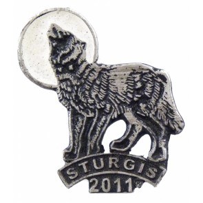 Sturgis 2011 Motorcycle Rally Wolf Howling Event Pin