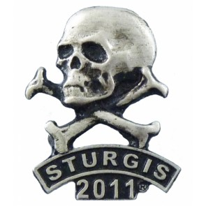 Sturgis 2011 Bike Rally Skull & Crossbones Event Pin