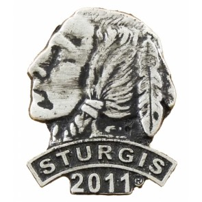 2011 Sturgis Motorcycle Rally Indian Chief Rocker Event Pin