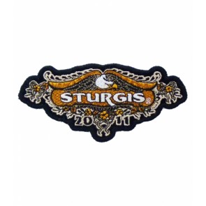 2011 Sturgis Rally Orange Flowered Eagle Event Patch